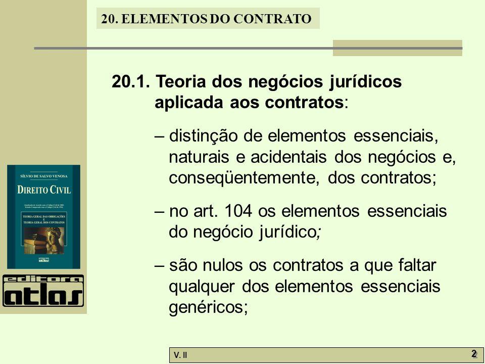 V.II 2 2 20. ELEMENTOS DO CONTRATO 20.1.