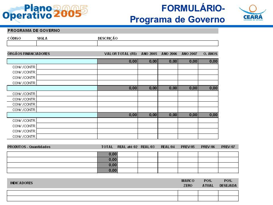 FORMULÁRIO- Programa de Governo