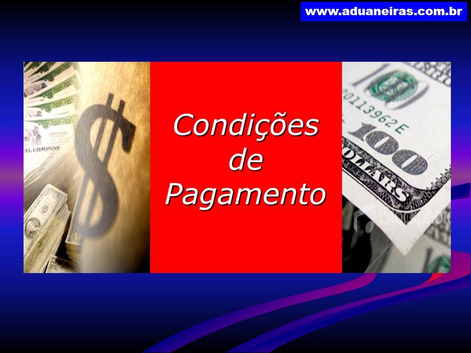 www.aduaneiras.com.br CondiçõesdePagamento