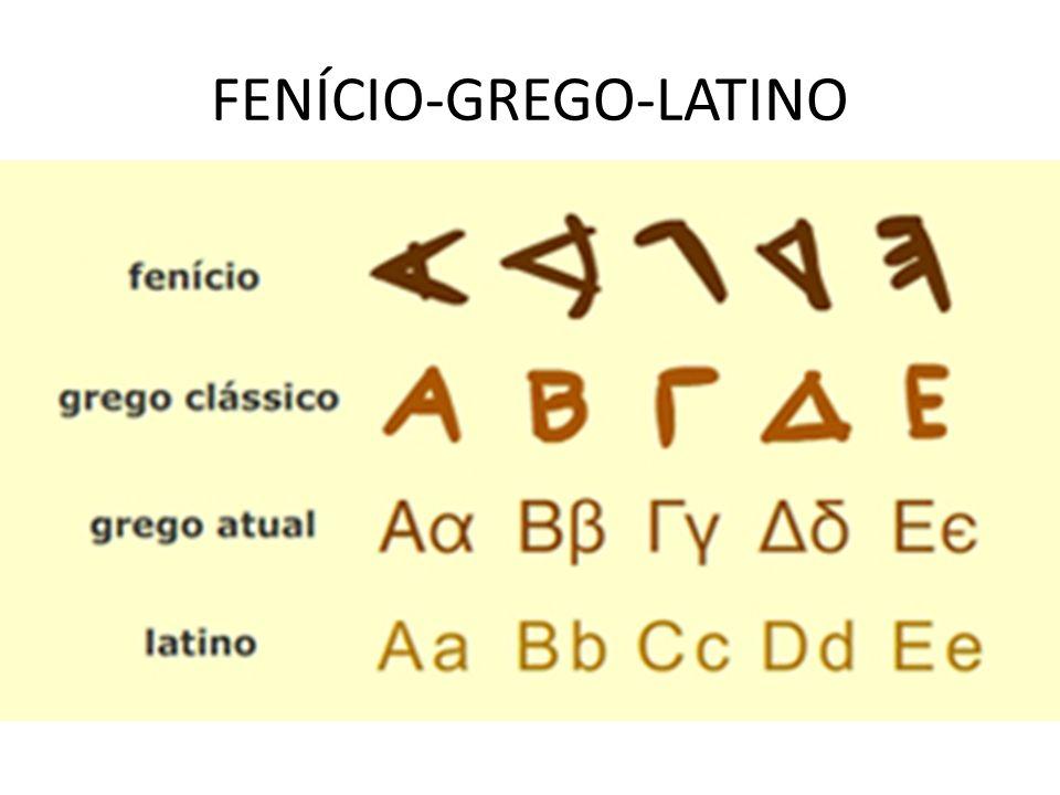 FENÍCIO-GREGO-LATINO