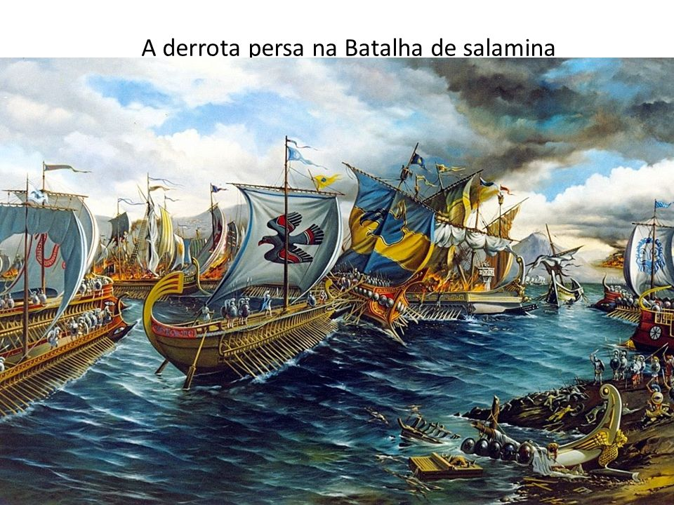 A derrota persa na Batalha de salamina