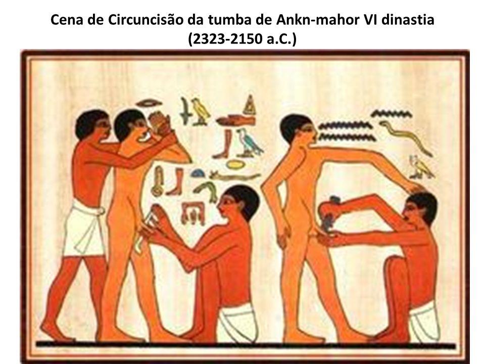 Cena de Circuncisão da tumba de Ankn-mahor VI dinastia (2323-2150 a.C.)