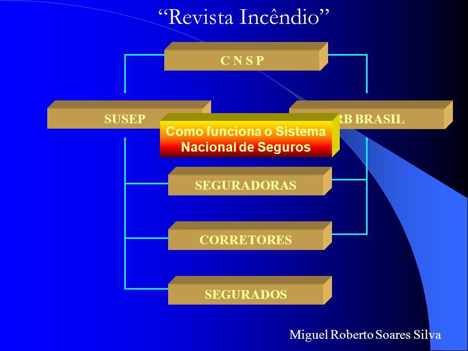 Miguel Roberto Soares Silva Com estas noções sobre a nomenclatura usada em seguros, passo a lhes explicar o funcionamento do mercado segurador Ou seja
