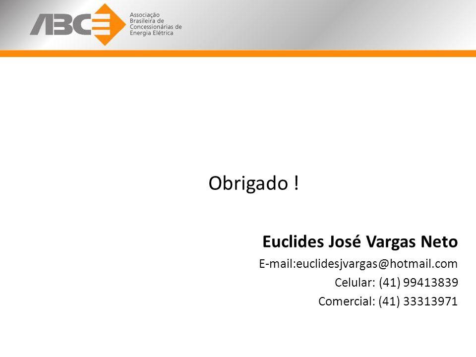 Obrigado ! Euclides José Vargas Neto E-mail:euclidesjvargas@hotmail.com Celular: (41) 99413839 Comercial: (41) 33313971
