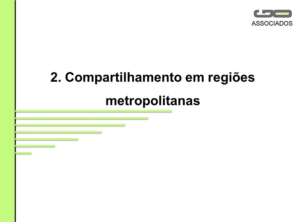 2. Compartilhamento em regiões metropolitanas
