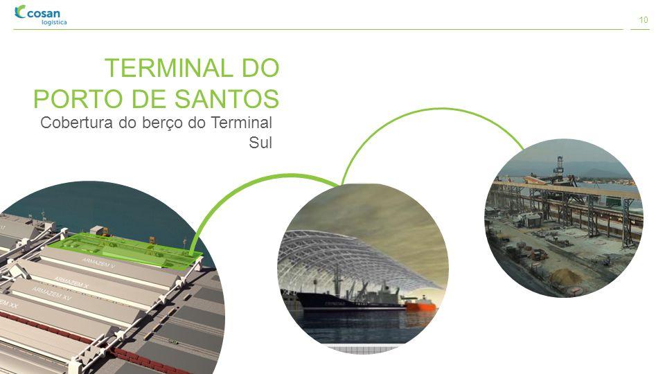 TERMINAL DO PORTO DE SANTOS Cobertura do berço do Terminal Sul 10