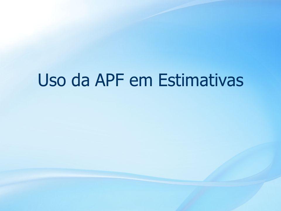 16 Uso da APF em Estimativas