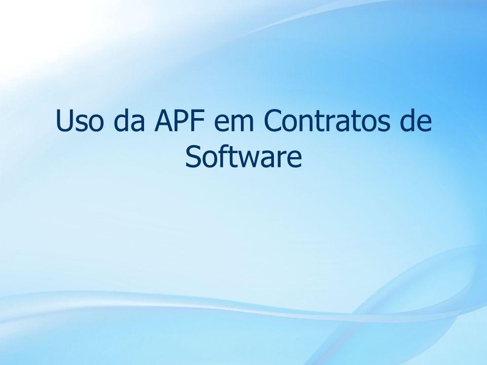 28 Uso da APF em Contratos de Software