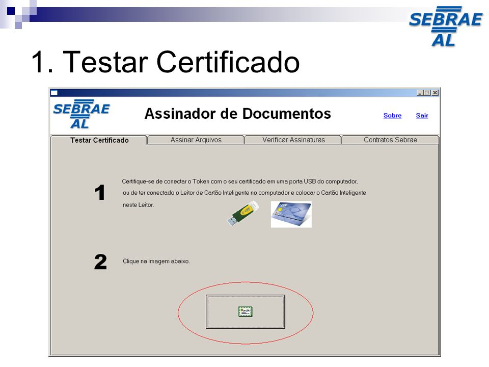 1. Testar Certificado