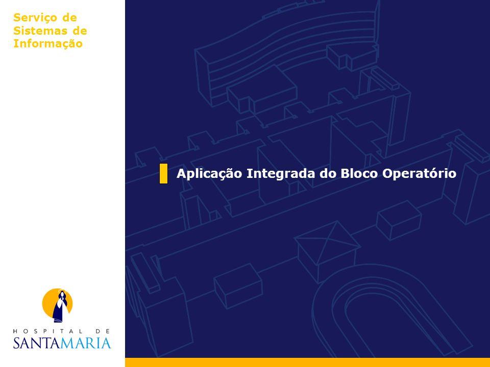 Aplicação Integrada do Bloco Operatório Serviço de Sistemas de Informação