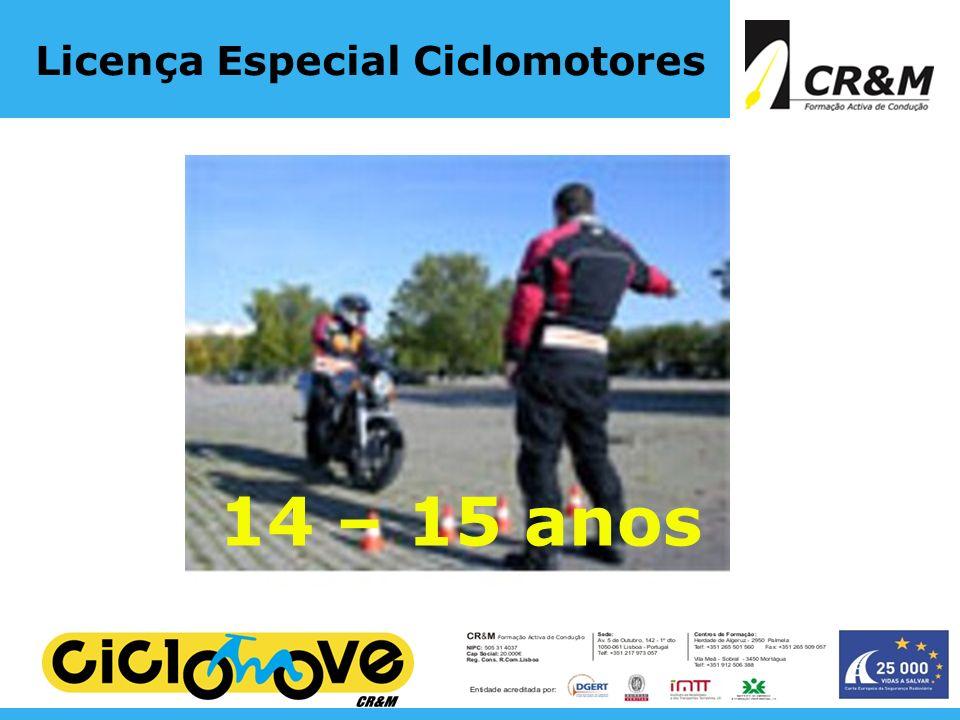 Licença Especial Ciclomotores 14 – 15 anos