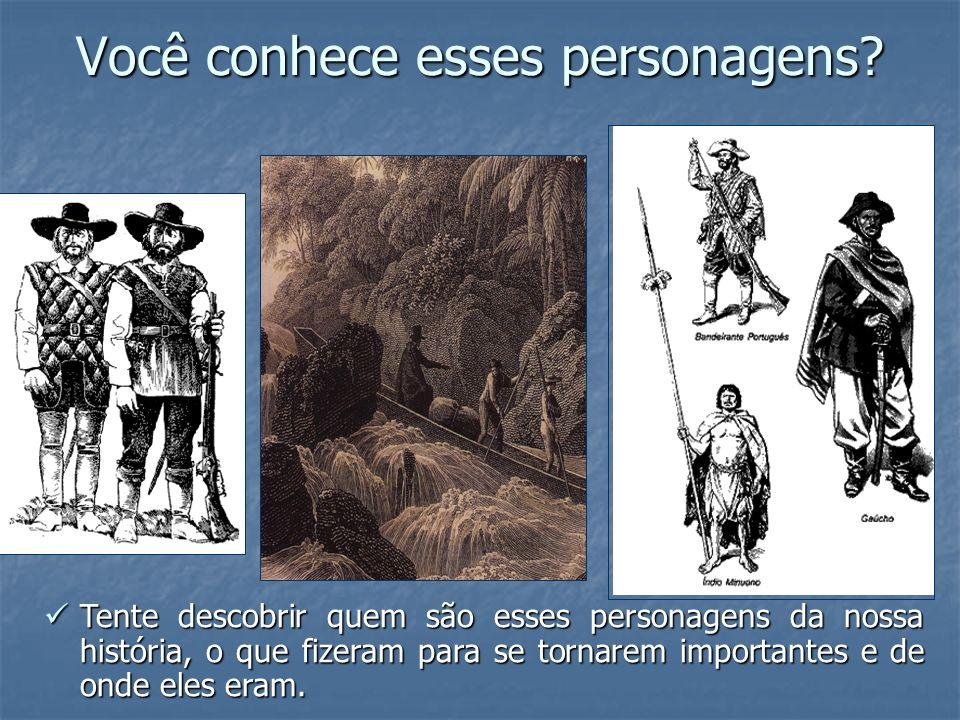 Imagens As imagens a seguir foram produzidas no século XIX, mas serão apresentadas com o intuito de desmistificar a imagem do bandeirante (sertanista paulista).