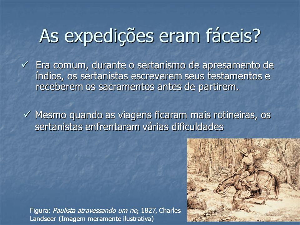 As expedições eram fáceis? Era comum, durante o sertanismo de apresamento de índios, os sertanistas escreverem seus testamentos e receberem os sacrame