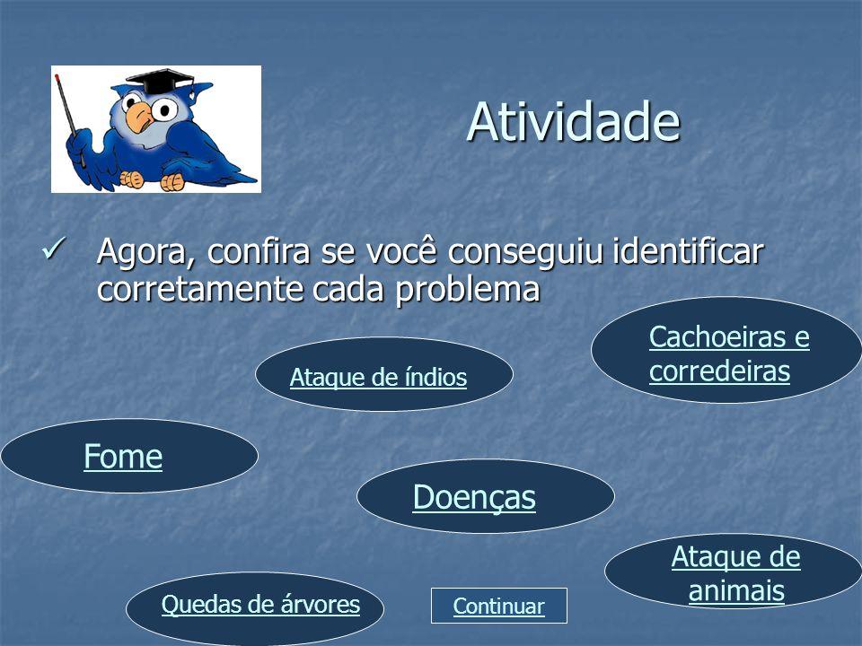 Atividade Agora, confira se você conseguiu identificar corretamente cada problema Agora, confira se você conseguiu identificar corretamente cada probl