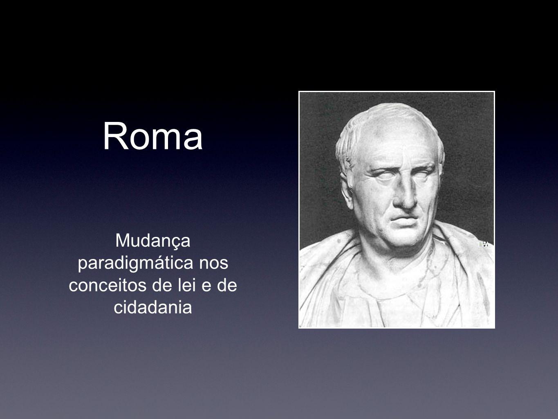 Roma Mudança paradigmática nos conceitos de lei e de cidadania