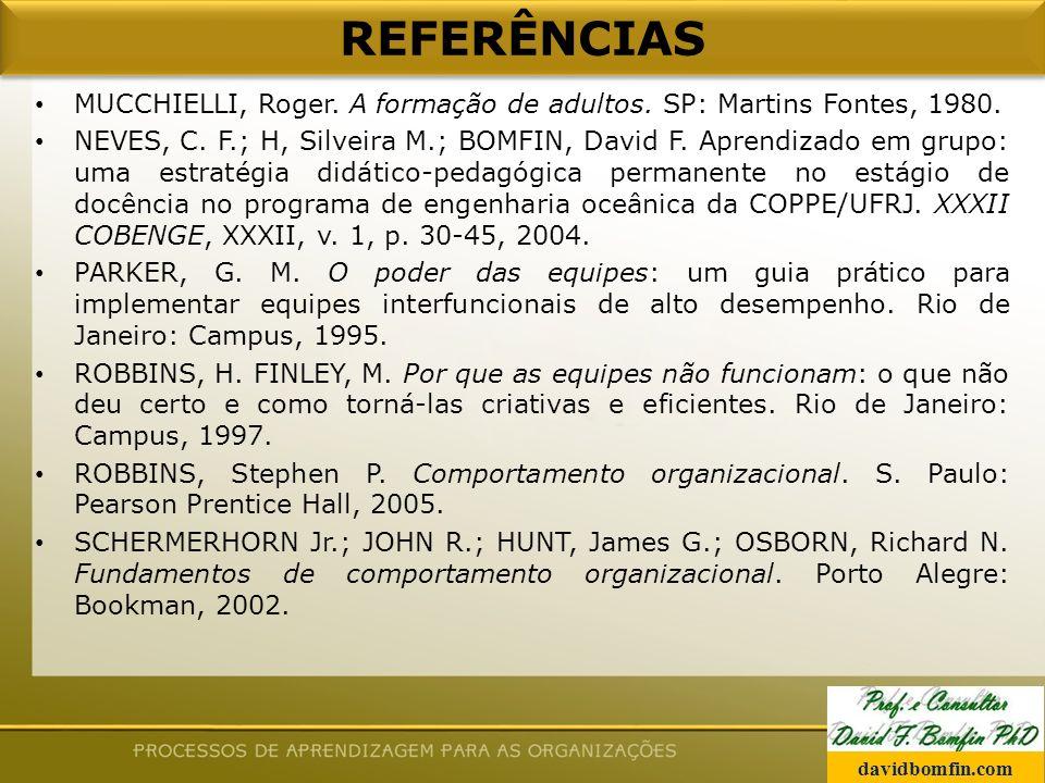 MUCCHIELLI, Roger.A formação de adultos. SP: Martins Fontes, 1980.