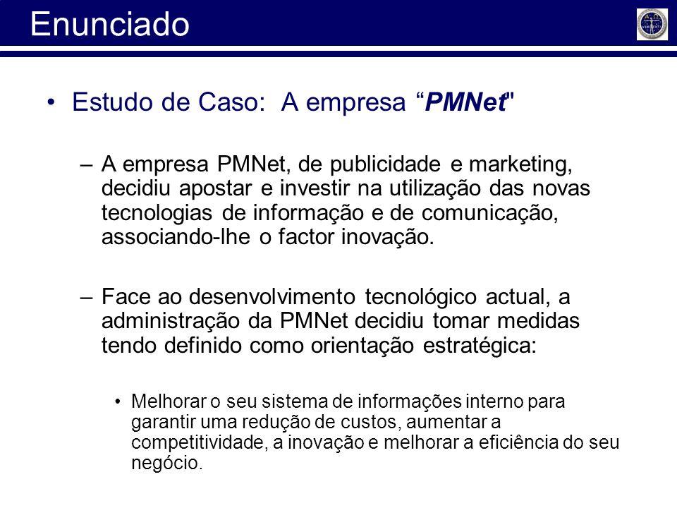 Enunciado Estudo de Caso: A empresa PMNet