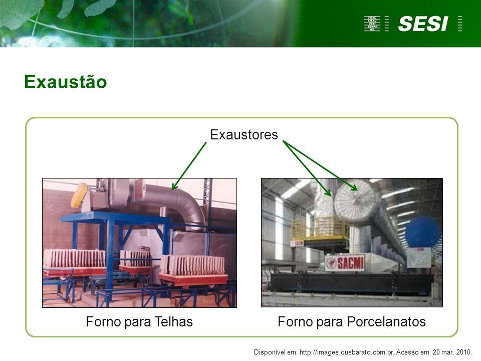 Forno para TelhasForno para Porcelanatos Exaustores Exaustão Disponível em: http://images.quebarato.com.br. Acesso em: 20 mar. 2010.