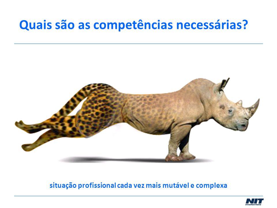 situação profissional cada vez mais mutável e complexa Quais são as competências necessárias?