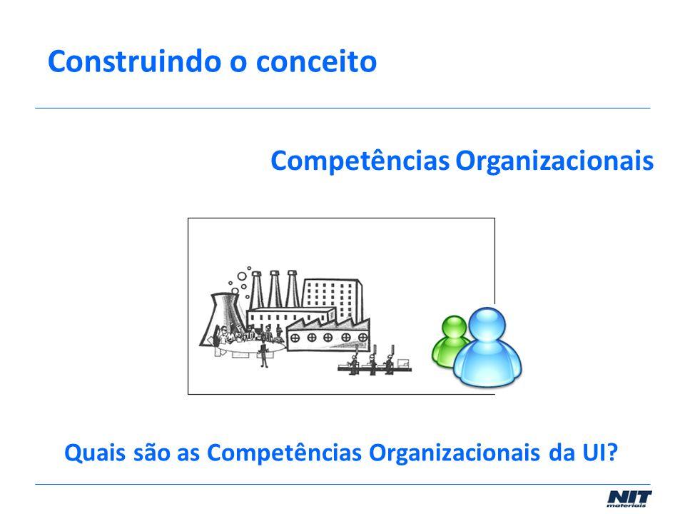 Competências Organizacionais Construindo o conceito Quais são as Competências Organizacionais da UI?