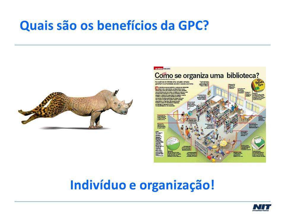 Quais são os benefícios da GPC? Indivíduo e organização!