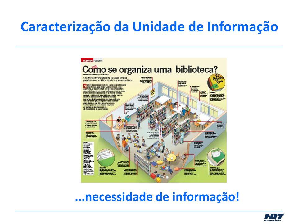 ...necessidade de informação! Caracterização da Unidade de Informação