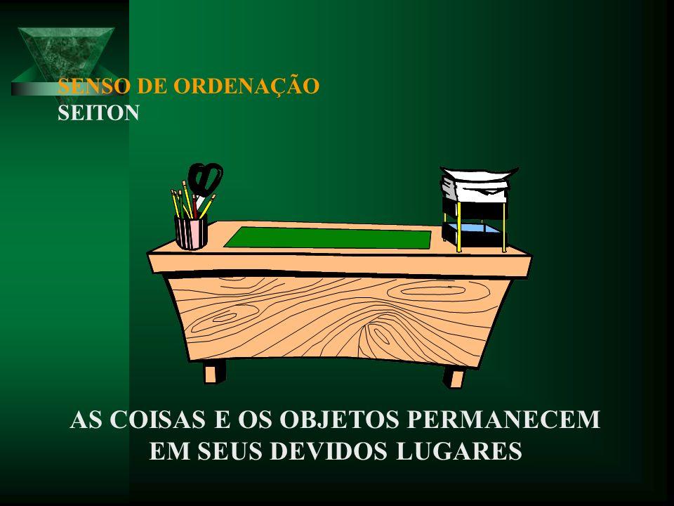 SENSO DE UTILIZAÇÃO SEIRI BENEFÍCIOS: LIBERAÇÃO DE ESPAÇO; REAPROVEITAMENTO DE RECURSOS; COMBATE À BUROCRACIA; DIMINUIÇÃO DE CUSTOS.