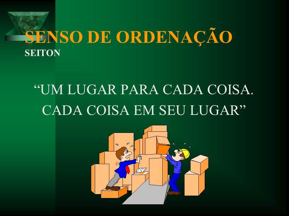 SENSO DE ORDENAÇÃO SEITON AQUILO QUE PRECISO DEVO ENCONTRAR DE FORMA FÁCIL