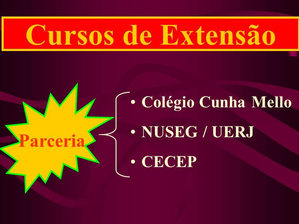 Cursos de Extensão Colégio Cunha Mello NUSEG / UERJ CECEP Parceria