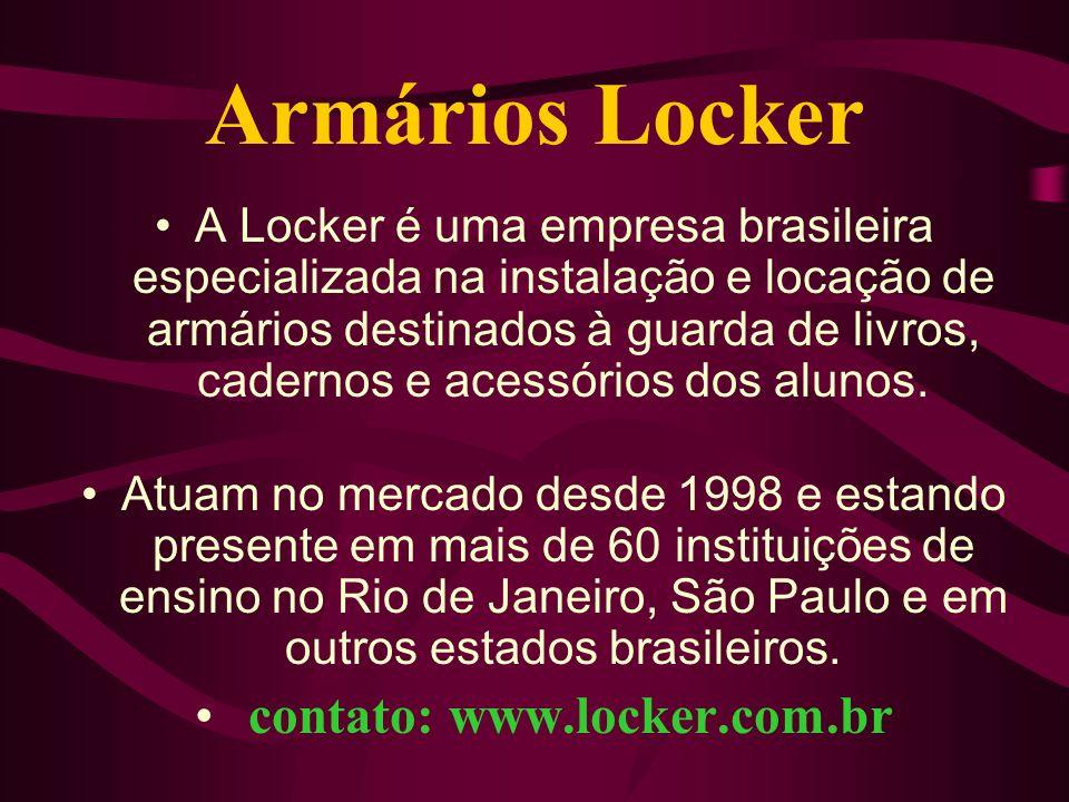 Armários Locker A Locker é uma empresa brasileira especializada na instalação e locação de armários destinados à guarda de livros, cadernos e acessóri