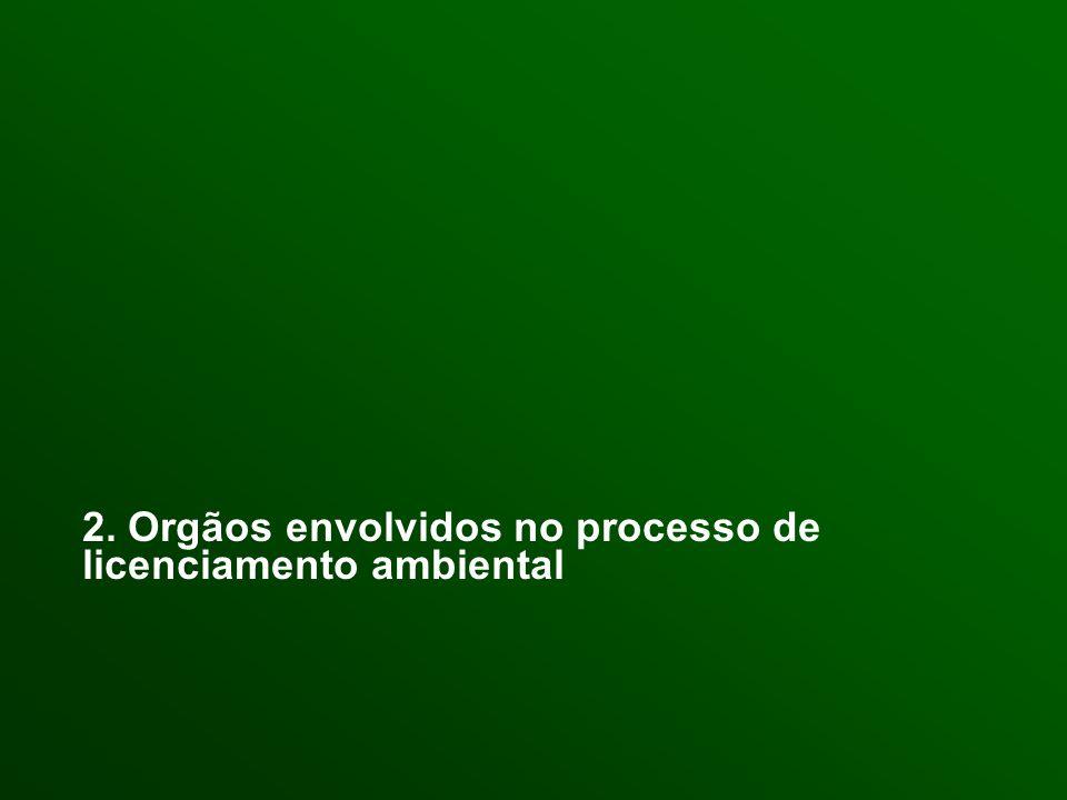 2. Orgãos envolvidos no processo de licenciamento ambiental
