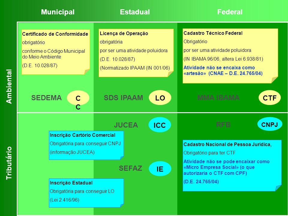 Cadastro Nacional de Pessoa Jurídica, Obrigatório para ter CTF Atividade não se pode encaixar como «Micro Empresa Social» (o que autorizaria o CTF com