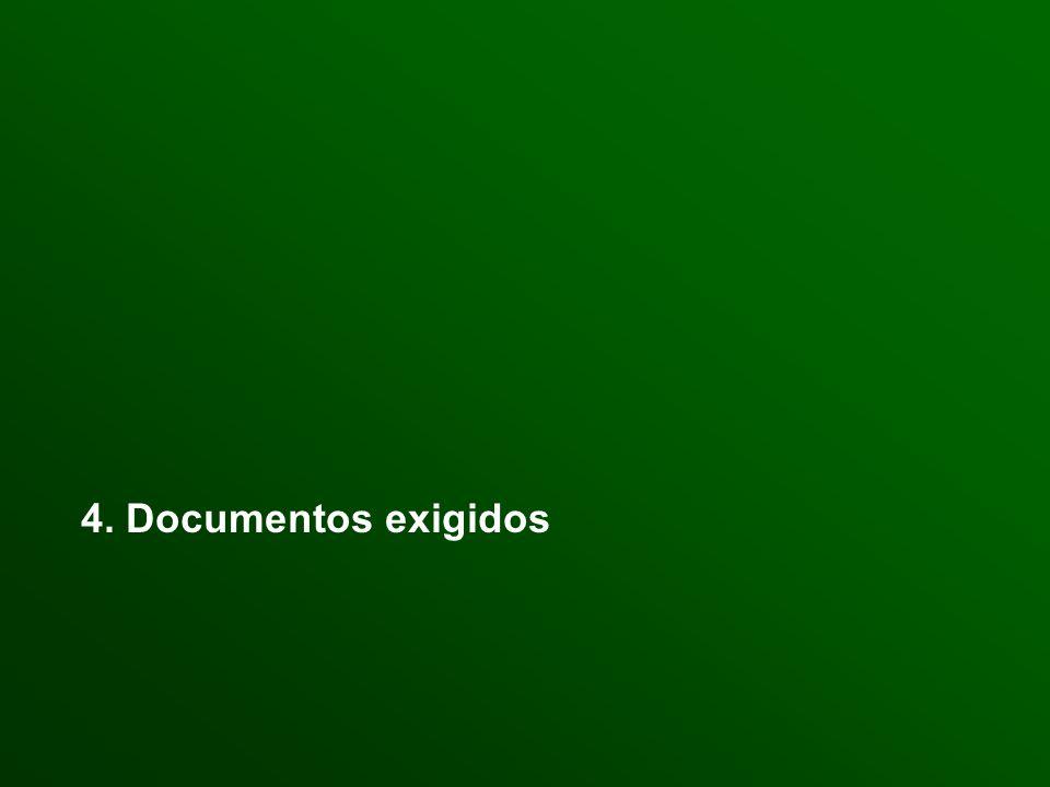 4. Documentos exigidos