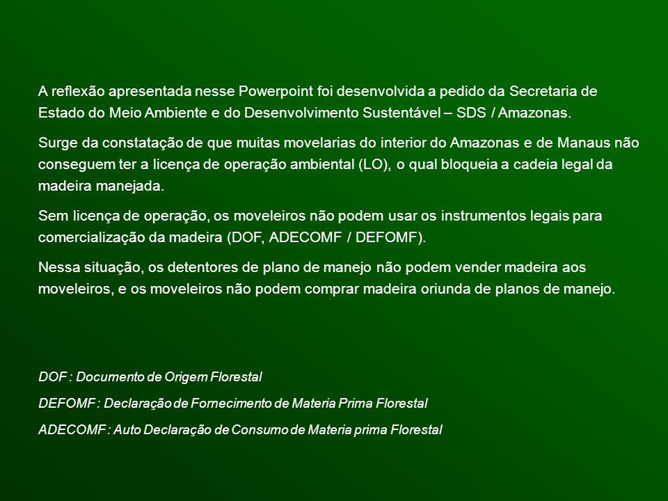 A referência legal é o Decreto Estadual 10.028 de 1987 e a Instrução Normativa IPAAM 001/06.