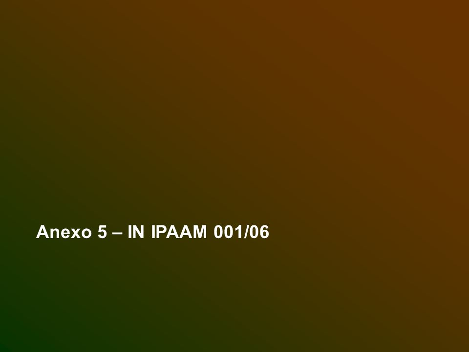 Anexo 5 – IN IPAAM 001/06