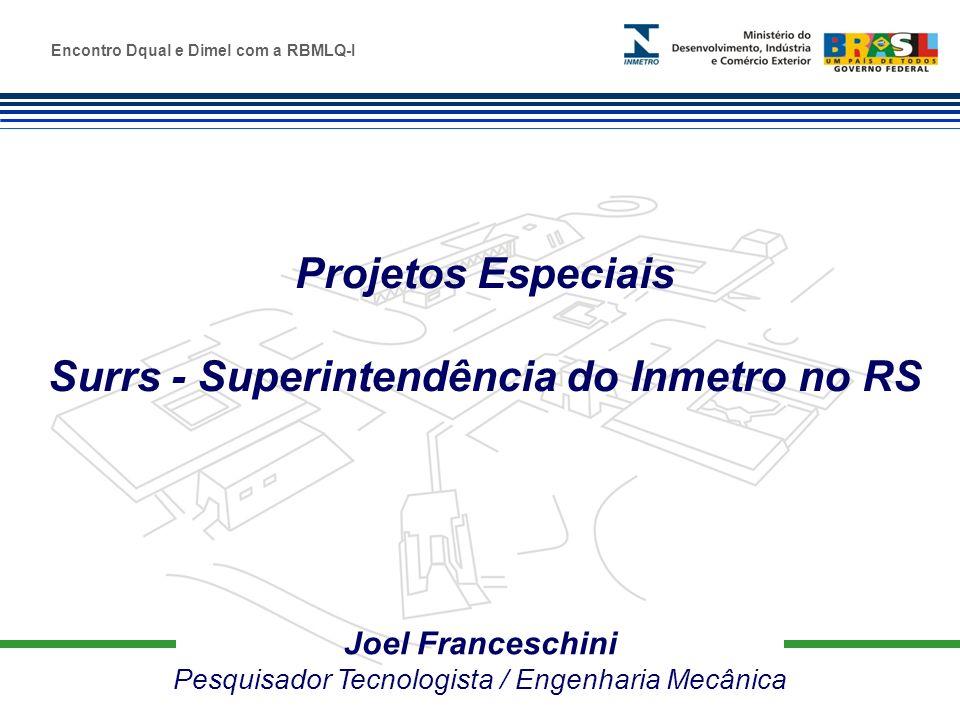 Marca do evento Joel Franceschini Pesquisador Tecnologista / Engenharia Mecânica Projetos Especiais Surrs - Superintendência do Inmetro no RS Encontro