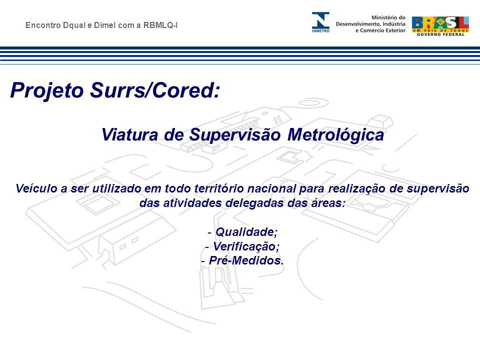 Marca do evento Projeto Surrs/Cored: Viatura de Supervisão Metrológica Veículo a ser utilizado em todo território nacional para realização de supervis