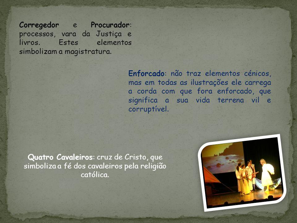 Corregedor e Procurador: processos, vara da Justiça e livros.