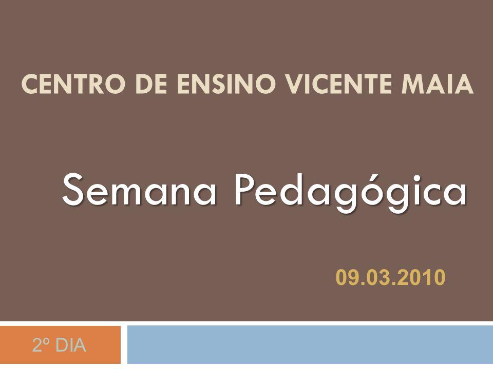 CENTRO DE ENSINO VICENTE MAIA Semana Pedagógica 09 de março de 2010 09.03.2010 2º DIA