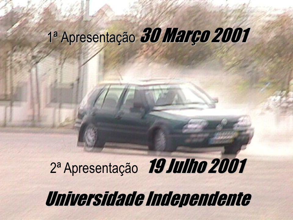 1ª Apresentação 30 Março 2001 19 Julho 2001 2ª Apresentação 19 Julho 2001 Universidade Independente