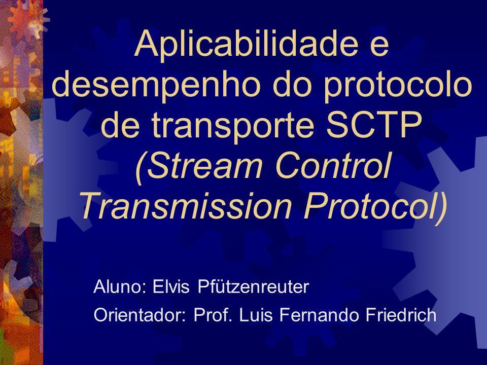 Loopback - vazão Variável: tamanho da mensagem TCP: desempenho muito superior a SCTP (9x a 4x) CRC-32c (não é o grande problema) Separação de mensagens Cópias memória-memória Trocas de contexto Comparação injusta Sobrecarga TLV TCPM: vazão semelhante a UNIXM e SCTP