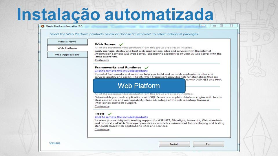 Instalação automatizada Web Platform