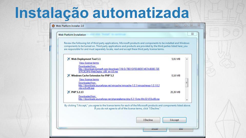 Instalação automatizada