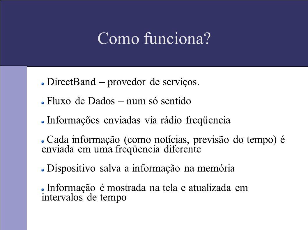 Como funciona. DirectBand – provedor de serviços.