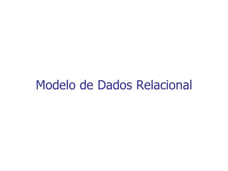 Introdução O modelo relacional representa um banco de dados como um conjunto de relações Informalmente, uma relação é uma tabela de valores, onde cada linha representa uma coleção de dados relacionados Cada linha de uma tabela representa um fato que tipicamente corresponde a uma entidade ou relacionamento do mundo real