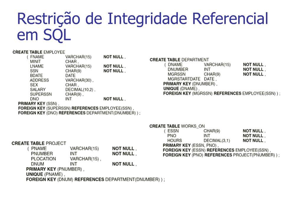 Restrição de Integridade Referencial em SQL