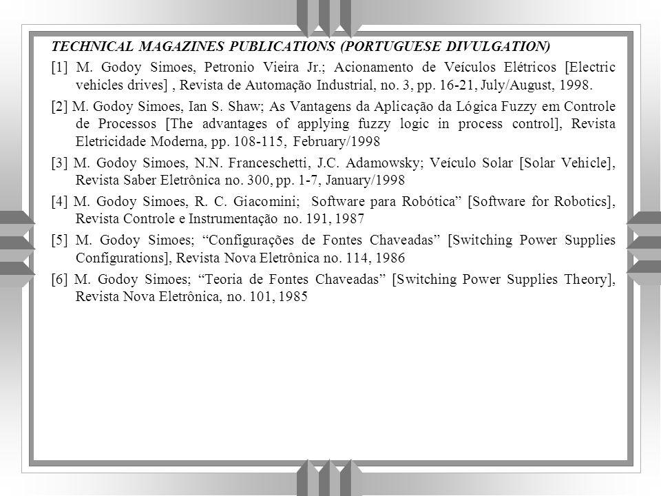 TECHNICAL MAGAZINES PUBLICATIONS (PORTUGUESE DIVULGATION) [1] M.