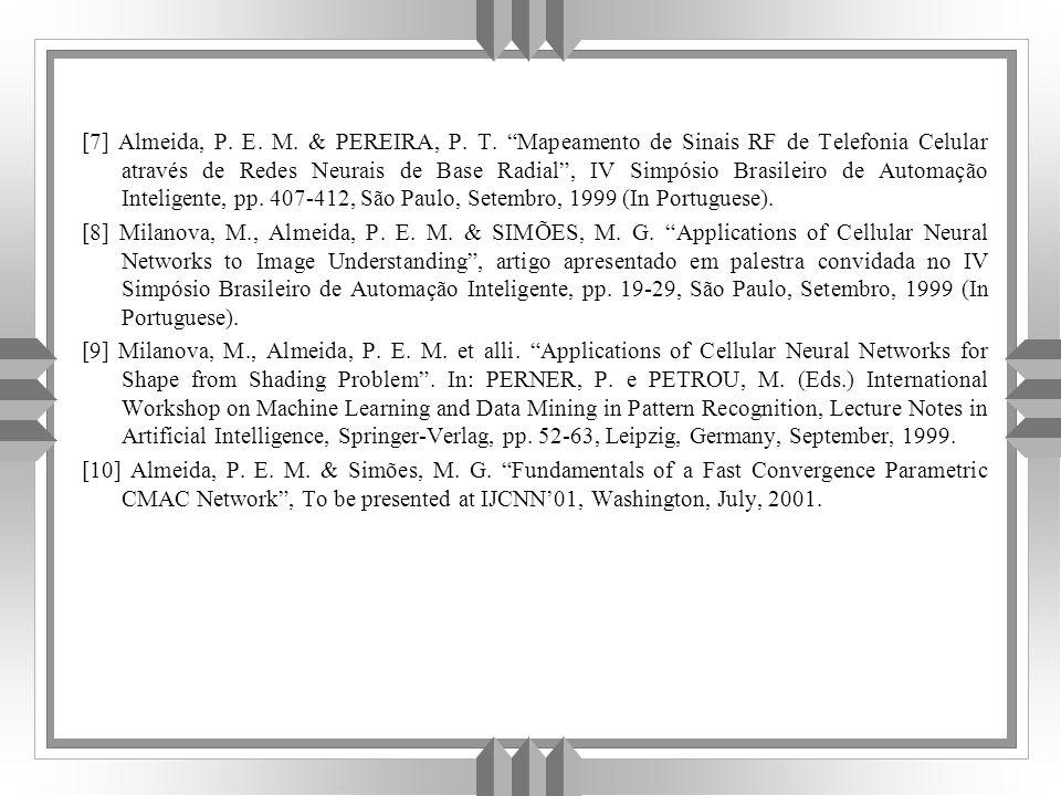 [7] Almeida, P.E. M. & PEREIRA, P. T.