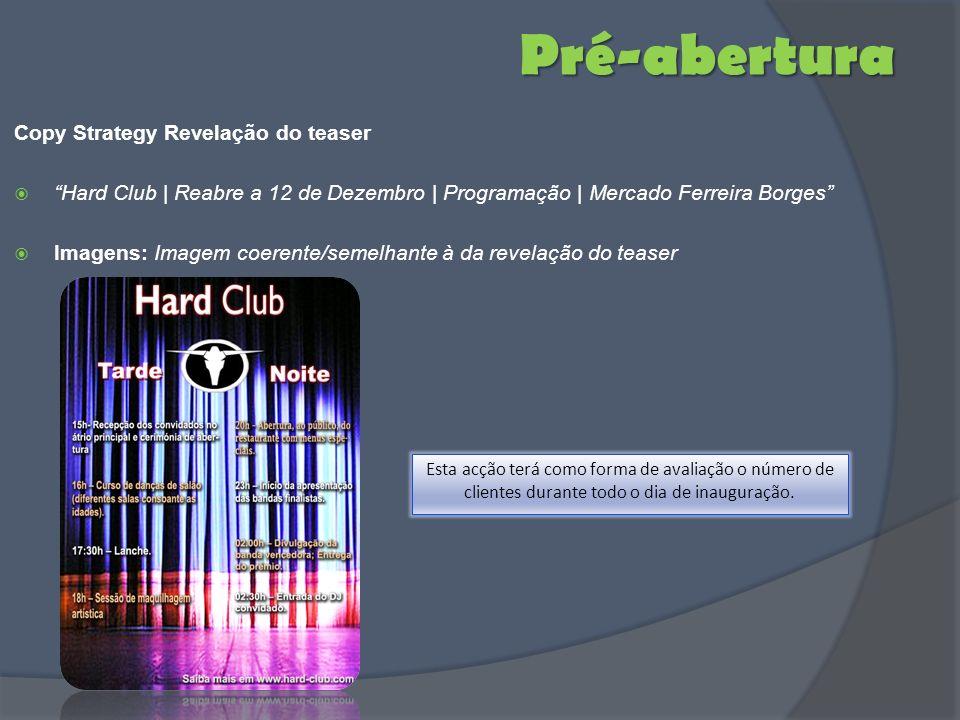 Pré-abertura Copy Strategy Revelação do teaser Hard Club | Reabre a 12 de Dezembro | Programação | Mercado Ferreira Borges Imagens: Imagem coerente/se