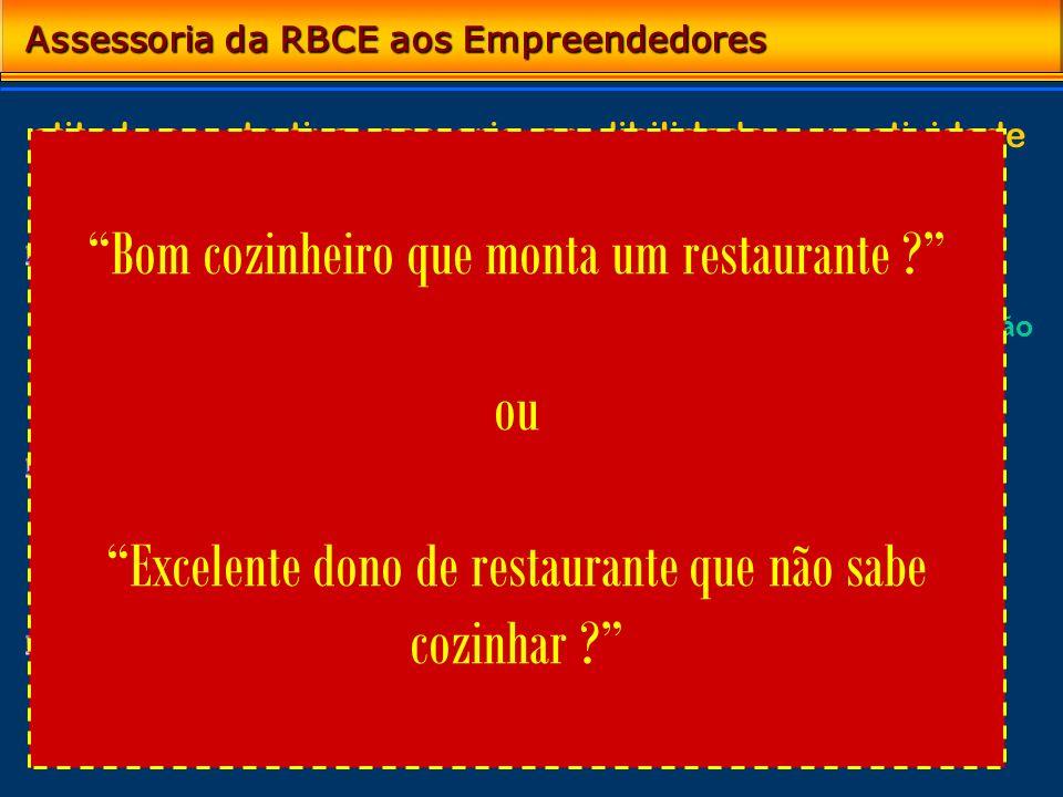 Assessoria da RBCE aos Empreendedores Conteúdo (perguntas para a Bola de Cristal) Contraponto construtivo – experiência e realismo ao processo de conc